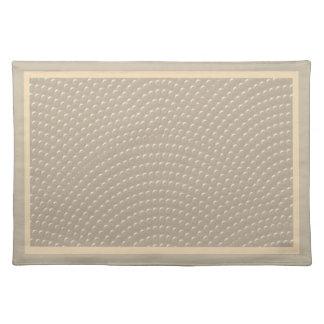 Falso modelo tachonado de la cubierta en de color  manteles