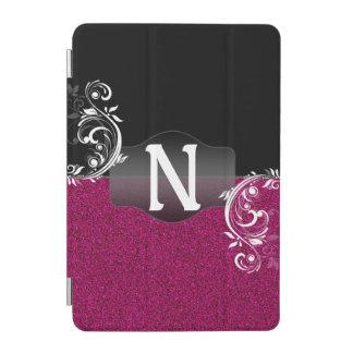 Falso monograma negro rosado brillante del cubierta de iPad mini