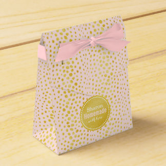 Falso monograma rosado elegante de la impresión cajas para regalos