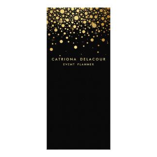 Falso negro de la tarjeta el   del estante del tarjetas publicitarias