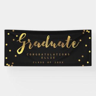 Falso negro graduado personalizado del confeti del lona
