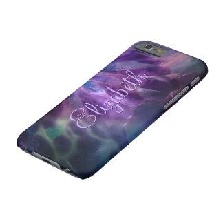 Falso nombre de encargo de cristal soplado funda para iPhone 6 barely there