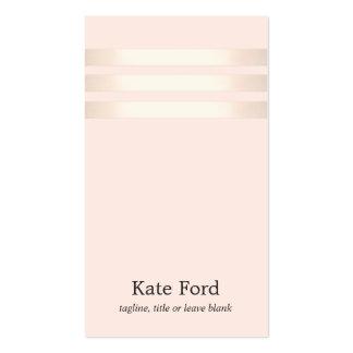 Falso oro color de rosa elegante 2 rosas claros tarjetas de visita
