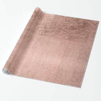 Falso oro color de rosa simple moderno papel de regalo