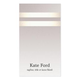 Falso oro ligero elegante simple Ombre de color Tarjetas De Visita
