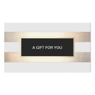 FALSO oro rayado y tarjeta de regalo negra de la Tarjetas De Visita