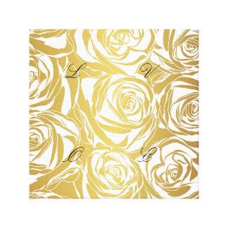 falso oro, rosas, modelo, art déco, hermoso, impresión en lienzo