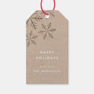 Falso paquete de las etiquetas del regalo de etiquetas para regalos
