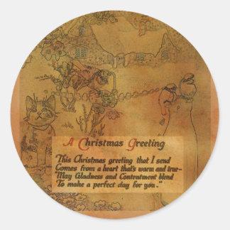 Falso pegatina del navidad del vintage
