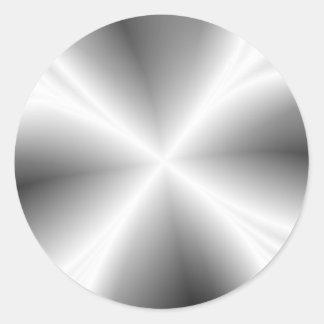 Falso pegatina metálico de plata