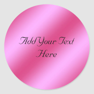 Falso pegatina metálico rosado del personalizable