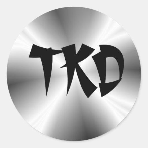 Falso pegatina redondo de la plata TKD