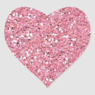 Falso) pegatina rosado del corazón del brillo (