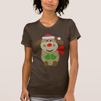 Falso perro festivo lindo del fieltro tee shirts