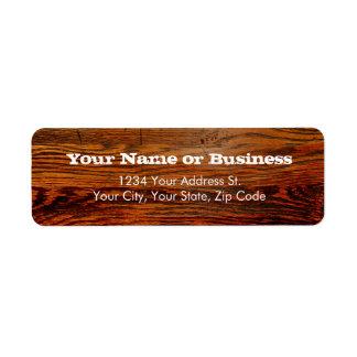 Falso personalizado personalizado tablón de madera etiquetas de remite