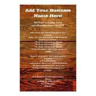 Falso personalizado personalizado tablón de madera tarjeton
