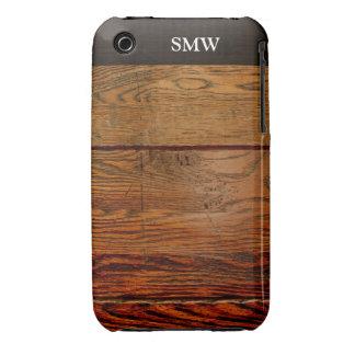 Falso personalizado personalizado tablón de madera iPhone 3 carcasa