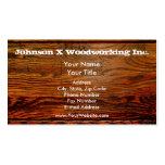 Falso personalizado personalizado tablón de madera plantillas de tarjeta de negocio
