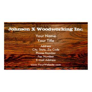 Falso personalizado personalizado tablón de madera tarjetas de visita