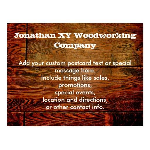 Falso personalizado personalizado tablón de madera postal
