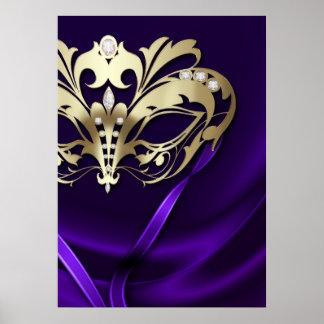 Falso poster de la púrpura de la joya de la mascar