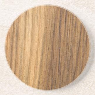 Falso práctico de costa de madera acabado de la be posavasos manualidades