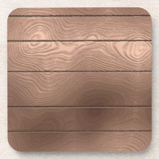 Falso práctico de costa de madera del corcho posavasos de bebida