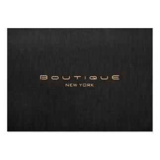 Falso profesional de lino negro del diseñador mode tarjeta personal