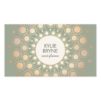 Falso profesional elegante del adorno del círculo tarjetas de visita