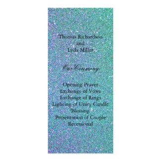 Falso programa del boda de la hoja del confeti tarjeta publicitaria a todo color