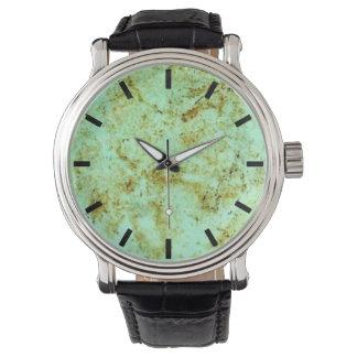Falso reloj de la cara de la piedra de la turquesa