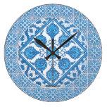 Falso reloj de la teja de Delft de los Cornflowers