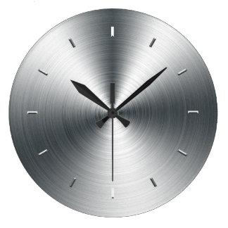 Falso reloj de pared cepillado de la chapa