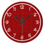 Falso reloj rojo de la lona