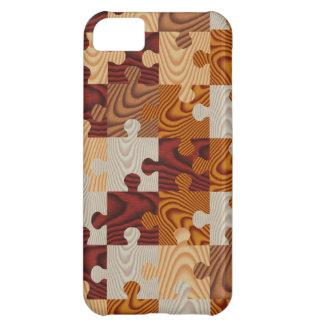 Falso rompecabezas de madera funda para iPhone 5C