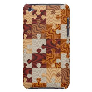 Falso rompecabezas de madera iPod touch Case-Mate cárcasas