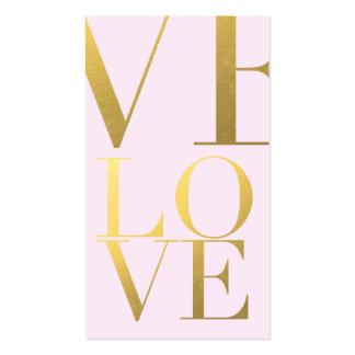 Falso rosa del amor de la hoja de oro plantillas de tarjetas de visita