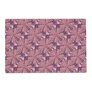 Falso rosa Placemat laminado púrpura del satén del Tapete Individual
