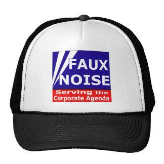 Falso ruido que sirve el orden del día corporativo gorros