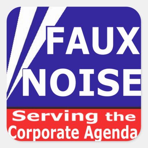 Falso ruido que sirve el orden del día corporativo pegatina cuadrada