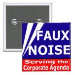Falso ruido que sirve el orden del día corporativo pin
