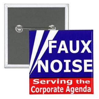 Falso ruido que sirve el orden del día corporativo pin cuadrada 5 cm