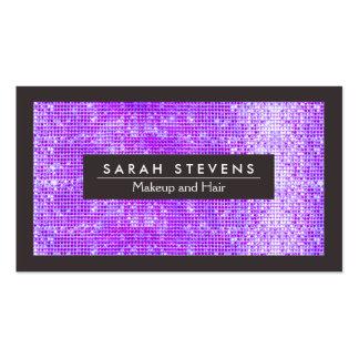 FALSO salón brillante púrpura del artista de maqui Tarjeta Personal