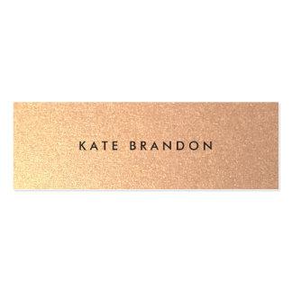 Falso salón de belleza moderno simple del oro tarjetas de visita mini
