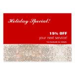 Falso salón de las lentejuelas y tarjeta de regalo tarjeta de negocio