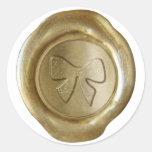 Falso sello de la cera - oro - ARCO de la CINTA Pegatina Redonda