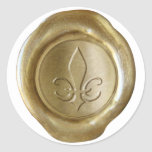 Falso sello de la cera - oro - ESPADA Pegatinas Redondas