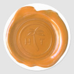 Falso sello de la cera - personalizado del HT Pegatinas Redondas