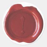 Falso sello de la cera - rojo sangre - marca de la etiquetas redondas
