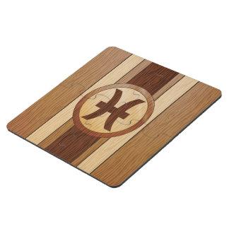 Falso símbolo de madera de la astrología de Psices Posavasos De Puzzle